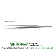 "Diam-n-Dust™ Micro Ring Forcep Stainless Steel, 21 cm - 8 1/4"" Tip Size 1.0 x 0.5 mm Ø"