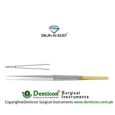 Diam-n-Dust™ Micro Suturing Forcep Straight Stainless Steel, 21 cm - 8 1/4""