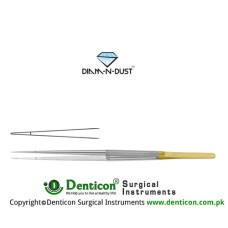 Diam-n-Dust™ Micro Suturing Forcep Straight Stainless Steel, 18.5 cm - 7 1/4""
