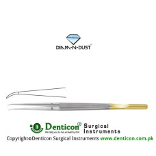 Diam-n-Dust™ Micro Suturing Forcep Curved - With Counter Balance Stainless Steel, 21 cm - 8 1/4""