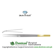 Diam-n-Dust™ Micro Suturing Forcep Curved - With Counter Balance Stainless Steel, 15 cm - 6""