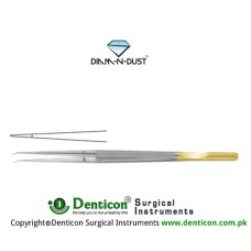 Diam-n-Dust™ Micro Suturing Forcep Straight - With Counter Balance Stainless Steel, 25 cm - 9 3/4""