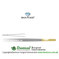 Diam-n-Dust™ Micro Suturing Forcep Straight - With Counter Balance Stainless Steel, 21 cm - 8 1/4""