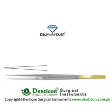 Diam-n-Dust™ Micro Suturing Forcep Straight - With Counter Balance Stainless Steel, 18.5 cm - 7 1/4""