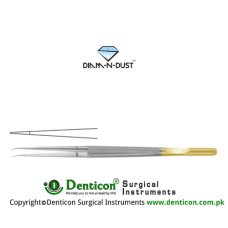 Diam-n-Dust™ Micro Suturing Forcep Straight - With Counter Balance Stainless Steel, 15 cm - 6""