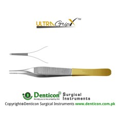 UltraGrip™ TC Adson Dissecting Forcep 1 x 2 Teeth Stainless Steel, 12 cm - 4 3/4""