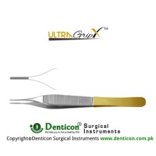 UltraGrip™ TC Micro-Adson Dissecting Forcep 1 x 2 Teeth Stainless Steel, 15 cm - 6""