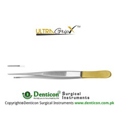 UltraGrip™ TC Micro-Semken Dissecting Forcep 1 x 2 Teeth Stainless Steel, 16 cm - 6 1/4""