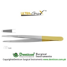 UltraGrip™ TC Bonney Dissecting Forcep 1 x 2 Teeth Stainless Steel, 17.5 cm - 7""