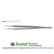 Micro Forcep Cross Serrated Jaws Stainless Steel, 20 cm - 8""