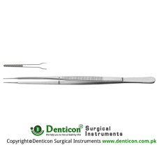 "Gerald Micro Forcep Cross Serrated Jaws Stainless Steel, 25 cm - 9 3/4"" Tip Size 1.0 mm"
