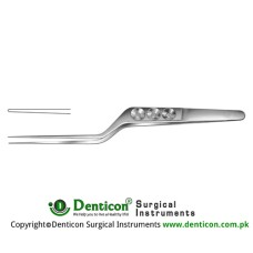 "Yasargil Micro Forceps Bayonet Shaped Stainless Steel, 18 cm - 7"" Tip Size 0.6 mm"