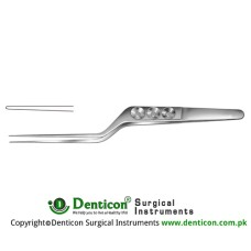 "Yasargil Micro Forceps Bayonet Shaped Stainless Steel, 18 cm - 7"" Tip Size 0.9 mm"