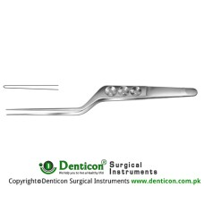 "Yasargil Micro Forceps Bayonet Shaped Stainless Steel, 22 cm - 8 3/4"" Tip Size 0.9 mm"