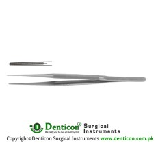 "Micro Atrauma Forcep Stainless Steel, 21 cm - 8 1/4"" Tip Size 1.2 mm"
