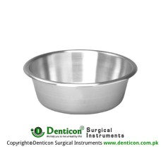 Round Bowl 1000 ccm Stainless Steel, Size Ø 160 x 65 mm