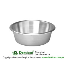 Round Bowl 8500 ccm Stainless Steel, Size Ø 320 x 140 mm