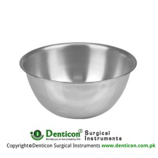 Round Bowl 6000 ccm Stainless Steel, Size Ø 330 x 90 mm