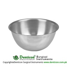 Round Bowl 8000 ccm Stainless Steel, Size Ø 330 x 115 mm