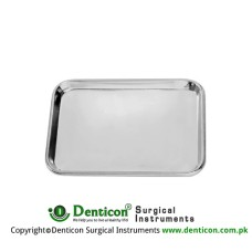 Instrument Tray Stainless Steel, Size 310 x 210 x 10 mm