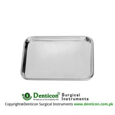 Instrument Tray Stainless Steel, Size 350 x 240 x 10 mm