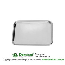 Instrument Tray Stainless Steel, Size 420 x 280 x 10 mm