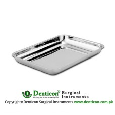 Universal Tray Stainless Steel, Size 235 x 190 x 40 mm