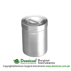 Dressing Jars Lid With Knob Stainless Steel, Size Ø 125 x 80 mm