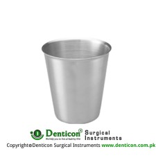 Metal Cup Stainless Steel, Size Ø 90 x 90 mm
