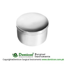 Denture Cup With Lid Stainless Steel, Size Ø 75 x 50 mm
