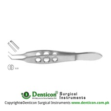 "Hoffer-McPherson Tissue Forcep Very Delicate 1 x 2 Teeth Stainless Steel, 10 cm - 4"" Jaw Length - Tip Size 11 mm - 0.12 mm"