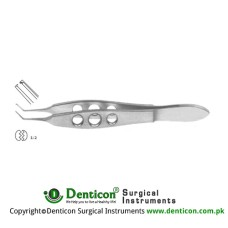 "Kelman-McPherson Tissue Forcep 1 x 2 Teeth Stainless Steel, 10 cm - 4"" Jaw Length - Tip Size 8 mm - 0.3 mm"