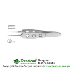 "Bonn Corneal Forcep Very Delicate 1 x 2 Teeth Stainless Steel, 8.5 cm - 3 1/4"" Tip Size 0.12 mm"