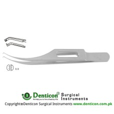 "Colibri Corneal Forcep Standard 1 x 2 Teeth with Tying Platform Stainless Steel, 7.5 cm - 3 1/4"" Tip Size 0.4 mm"