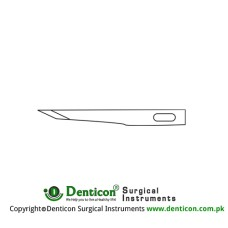 Micro Scalpel Blade No. 65 Pack of 25 Stainless Steel,