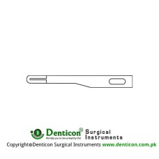 Micro Scalpel Blade No. 69 Pack of 25 Stainless Steel,