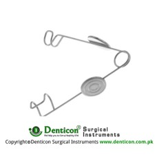 Alphonson Infant Lid Speculum With Finger Grip Stainless Steel,