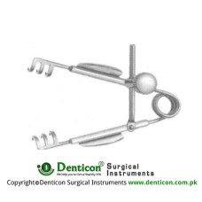 Agricola Lacrimal Sac Retractor 3 x 3 Blunt Pronges Stainless Steel,