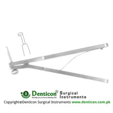 Gass Corneoscleral Punch Rotatable Stainless Steel, Diameter - Deep Bite 1.5 mm - 0.75 mm