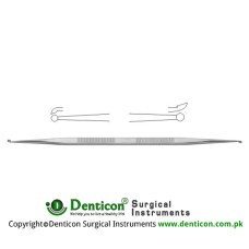"House Micro Ear Curette Stainless Steel, 14.5 cm - 5 3/4"" Cup Size 1 / Cup Size 2 1.0 mm - 1.2 mm"
