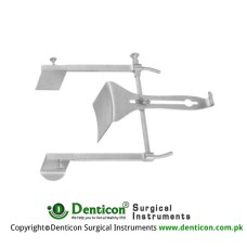 Golligher Retractor Complete With Central Blades Ref:- RT-910-90 and RT-910-91 Stainless Steel, Spread 185 mm