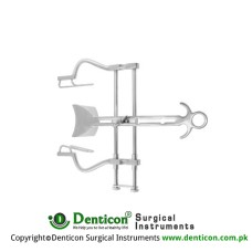 "Balfour Retractor Complete With Central Blade Ref:- RT-901-91 Stainless Steel, 20 cm - 8"" Spread - Lateral Blades Size 200 mm - 100 x 35 mm"