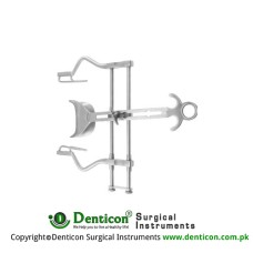"Balfour Retractor Complete With Central Blade Ref:- RT-903-01 Stainless Steel, 20 cm - 8"" Spread - Lateral Blades Size 180 mm - 70 x 35 mm"