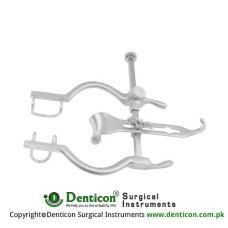 "Balfour-Baby Retractor Complete With Central Blade Ref:- RT-890-90 Stainless Steel, 12.5 cm - 5"" Spread 95 mm"