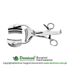 Collin Retractor Complete With Central Blade Ref:- RT-826-90 and 1 Pair of Lateral Blades Ref:- RT-835-60 Stainless Steel,