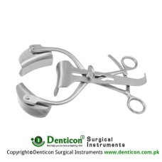 Collin Retractor Complete With 1 Pair of Lateral Blades Ref:- RT-835-38 Stainless Steel,