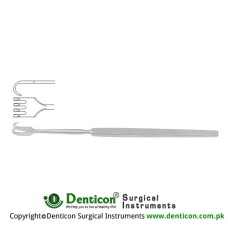 Retractor 4 Sharp Prongs Stainless Steel, 16.5 cm - 6 1/2""