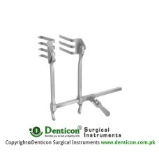 Scoville-Richter Retractor Complete With Lateral Blades Pair Ref:- RT-957-01 Stainless Steel,