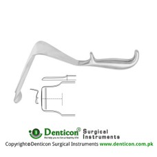 "St. Marks Pelvis Retractor Stainless Steel, 33 cm - 13"" Blade Size 195 x 60 mm - 60 x 45 mm"
