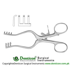 Milligan Self Retaining Retractor 3 x 3 Blunt Prongs Stainless Steel, 13.5 cm - 5 1/4""